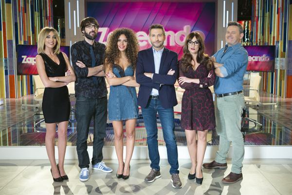 El equipo de humoristas y presentadores de Zapeando, de La Sexta televisión. © Roberto Garver.