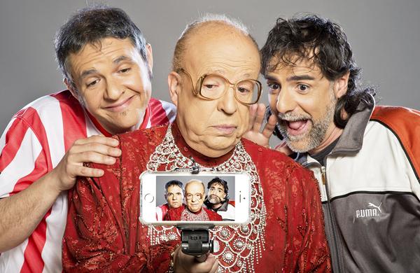 Rappel con los actores Diego Molero y Javier Navares.