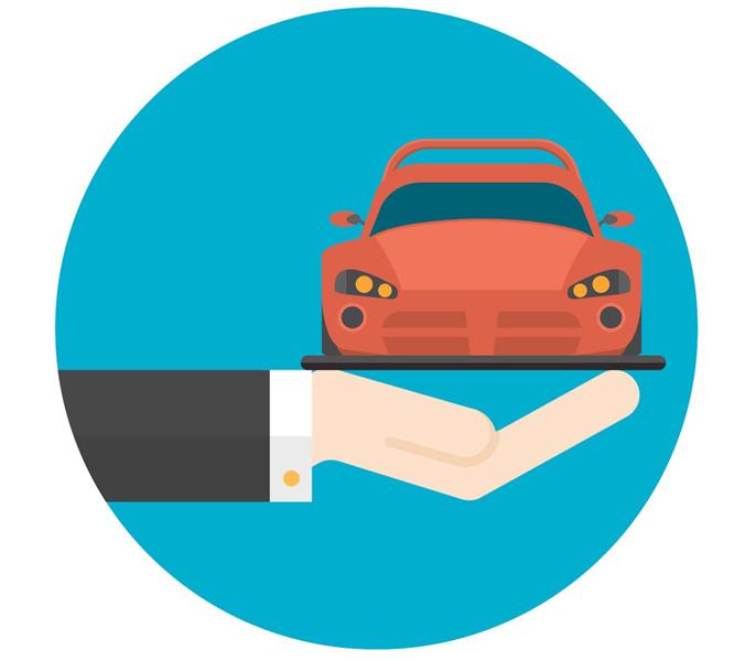 free flat hand and car vector icon - Arranca en Madrid la 21º edición del Salón del Vehículo de Ocasión