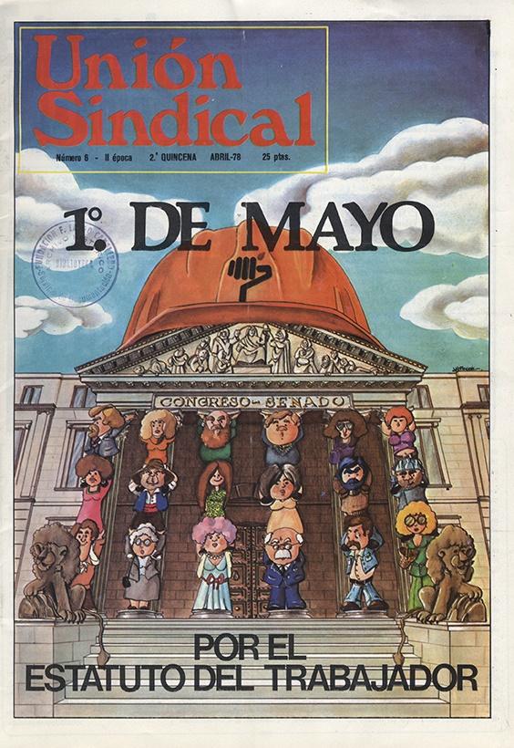 union sindical madrid n 6 abril 1978 portada hemeroteca fundacion f largo caballero - Cuatro planes para disfrutar del puente de San Isidro en Madrid