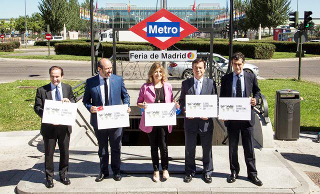 CAMBIO NOMBRE METRO 002 - IFEMA celebra el día mundial de las ferias rebautizando la estación de Metro como Feria de Madrid