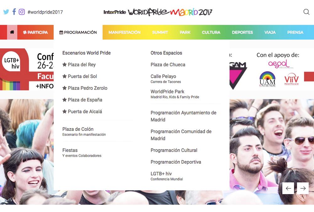 Captura de pantalla 2017 06 22 a las 09.51.25 - Comienza el WordlPride Madrid 2017 Todo preparado