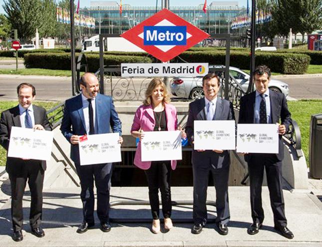IFEMA celebra el día mundial de las ferias rebautizando la estación de Metro como Feria de Madrid