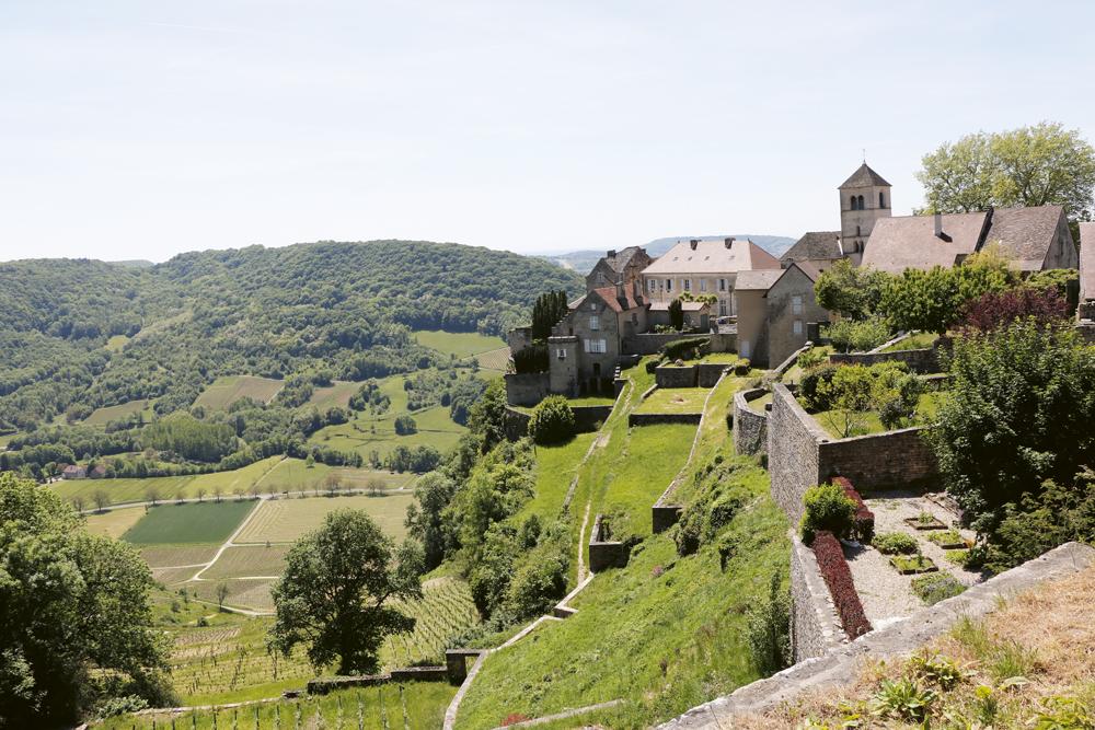 Le paysage depuis le Château Chalon.