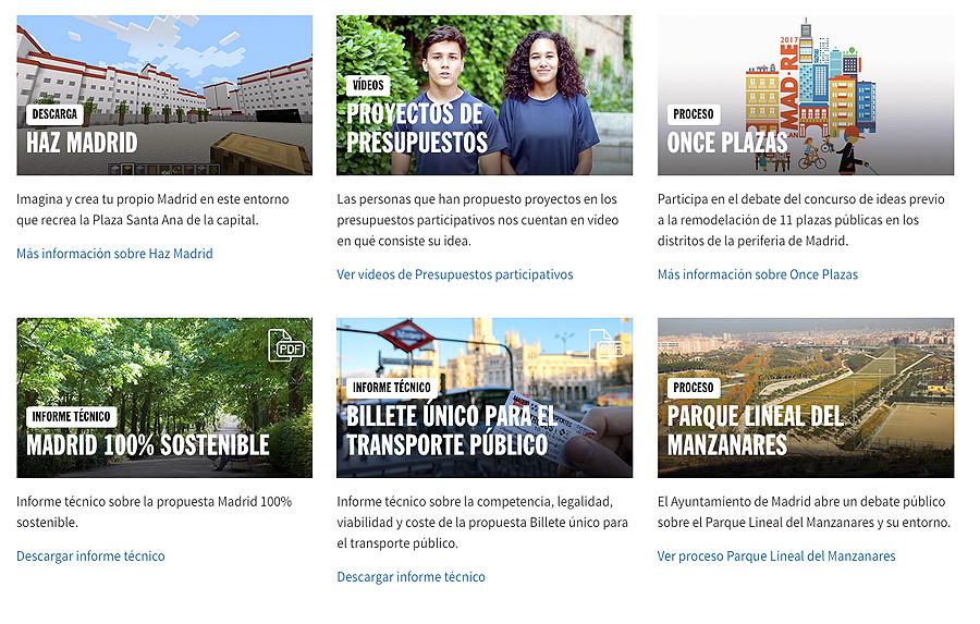 proyectos M - Vota para decidir dónde invertir 100 millones en Madrid