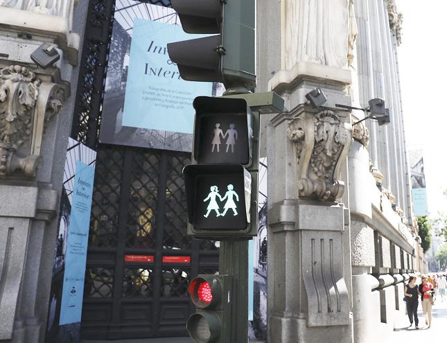 Madrid instala semáforos inclusivos coincidiendo con la celebración del WorldPride