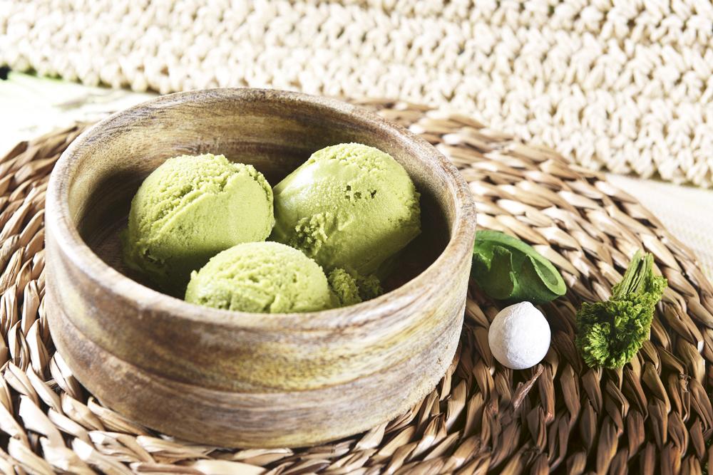 Helado de té verde Ramen Shifu - ...de postre, un HELADO