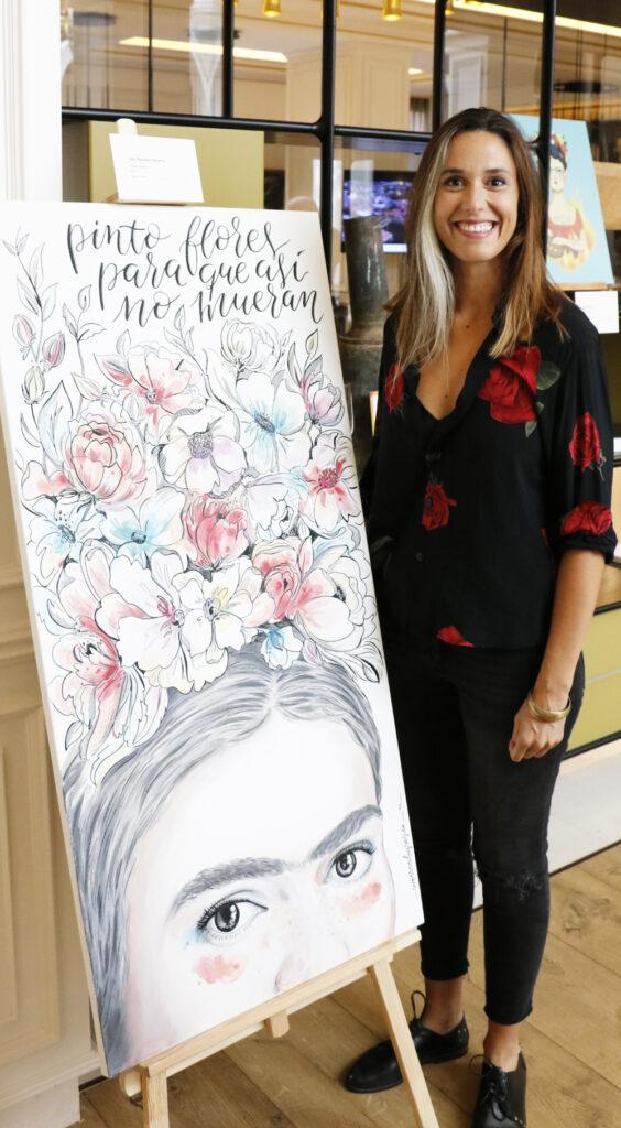 """La ilustradora Ana MArtínez, conocida como Supercaligrafica y su obra """"Pintar flores"""""""