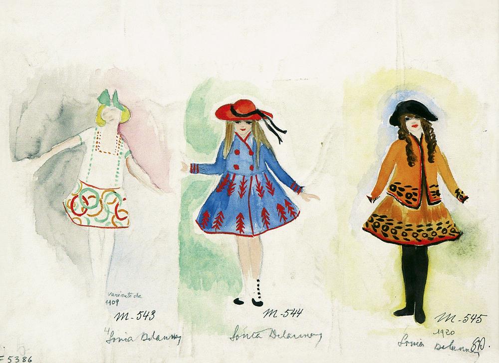 Tres vestidos para niños. 1920