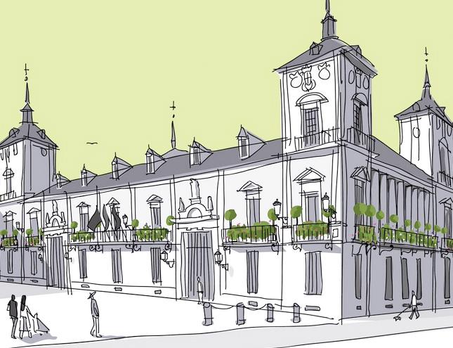 380 jardines en balcones para 21 edificios municipales de Madrid