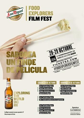 CARTEL SM FE FF - Food Explorers Film Fest desembarca en Madrid
