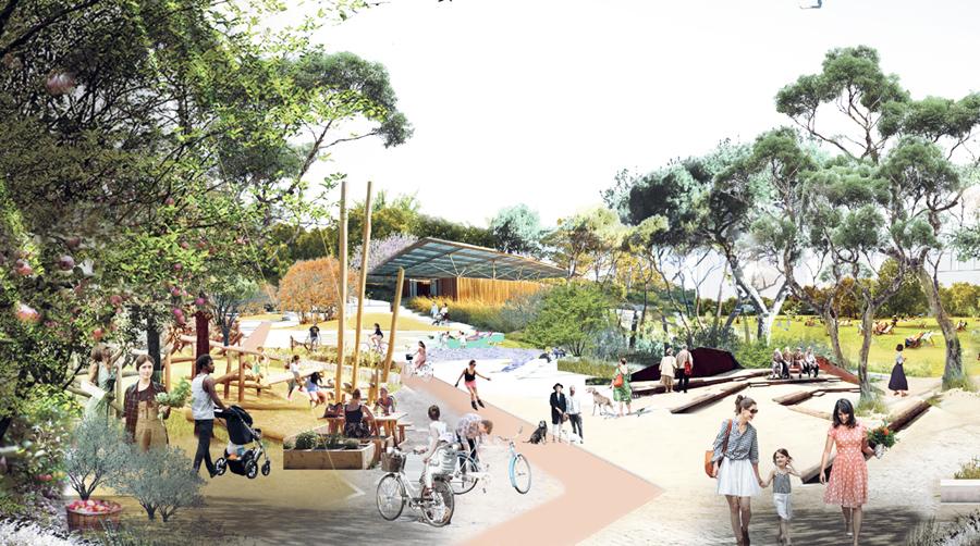 Plaza Cívica de Mar de Cristal (Hortaleza): Greenfingers.