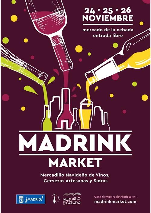 cartel madrink v03 - Mercadillo navideño de sidras, vinos y cervezas artesanas