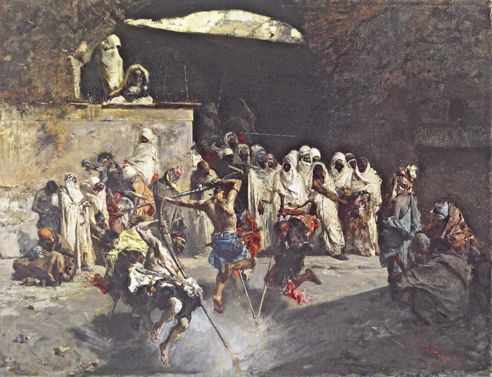 Fantasía árabe (1865), de Mariano Fortuny. Este cuadro está en Metropolitan de Nueva York.