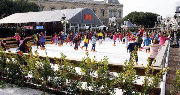 colon hielo - Madrid abre 8 pistas de hielo por Navidad