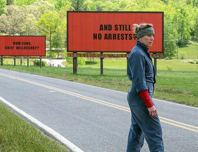"""Se estrena la película favorita de los Oscar """"Tres anuncios en las afueras"""""""