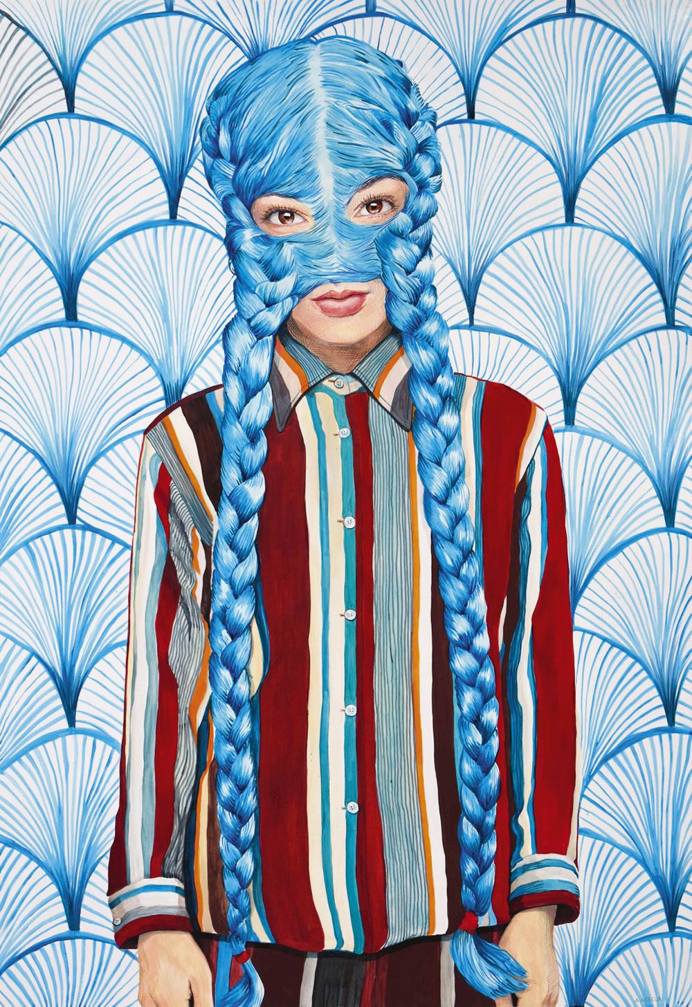 Retrato, de Ángeles Agrela. Galería Yusto Giner.