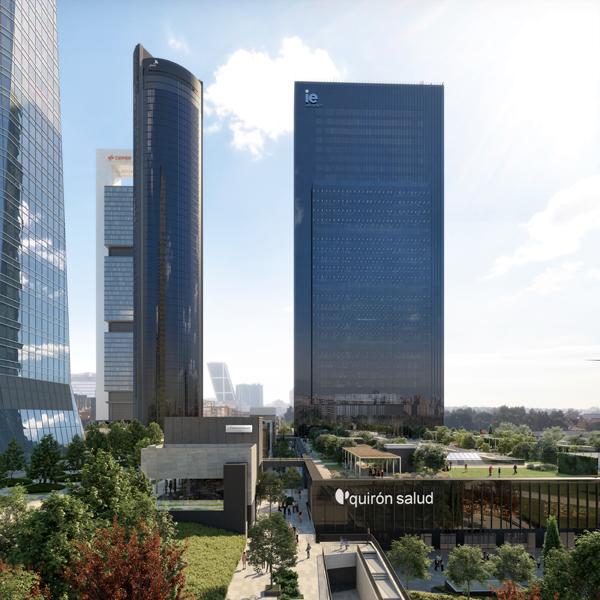CALEIDO Quironsalud e IE - Comienza a construirse la quinta torre