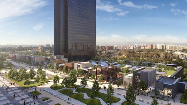 CALEIDO Vista Castellana - Comienza a construirse la quinta torre
