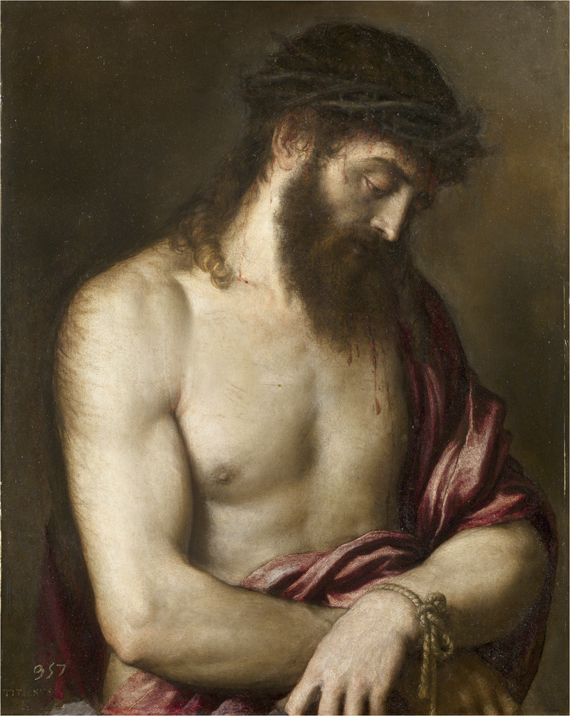 Detalle del Ecce Homo de Tiziano, 1547. Madrid, Museo Nacional del Prado.