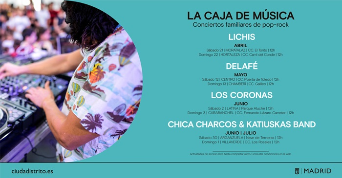 BANNER CARTEL MUSICA - Lichis abre un ciclo de conciertos gratuitos de pop-rock para familias