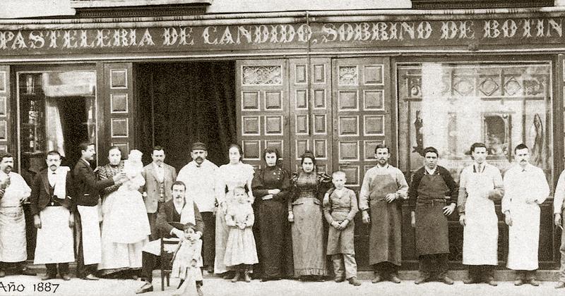 Imagen de la fachada del restaurante Botín de 1887.