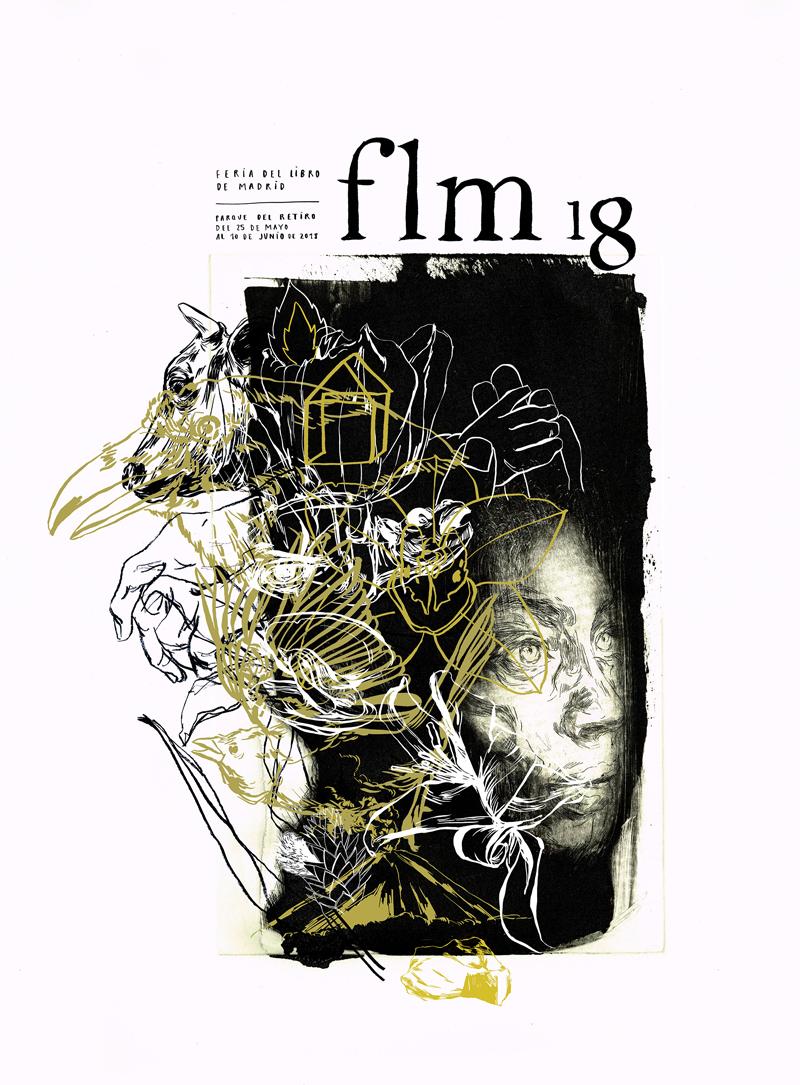 flm cartel 2018 - El Retiro acoge la 77 edición de la Feria del Libro
