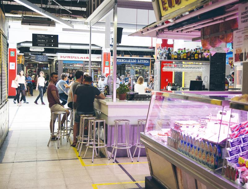 Interior del mercado de San Fernando.
