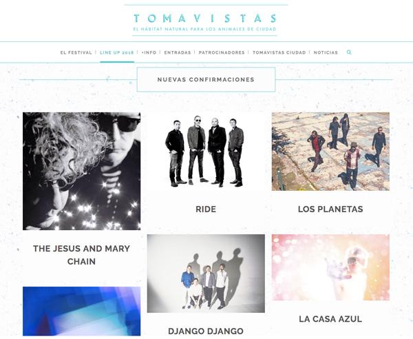 tomavistas2018 - Cuarta edición del festival de música al aire libre Tomavistas
