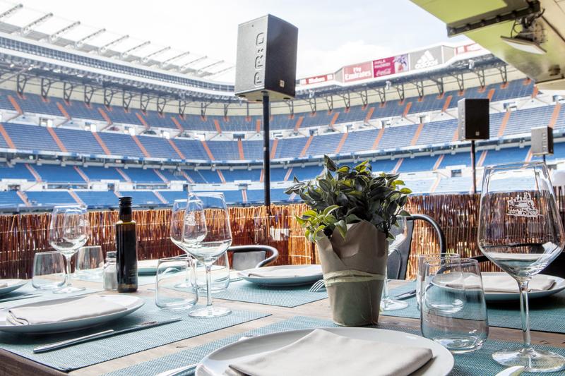La terraza del Bernabéu. Del restaurante La Esquina.
