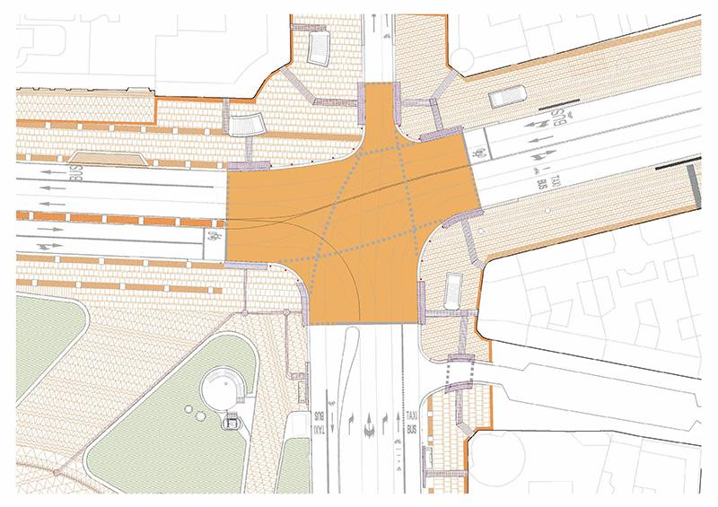 Paso Peatonal Libre - La Plaza de España contará con un paso de peatones en diagonal