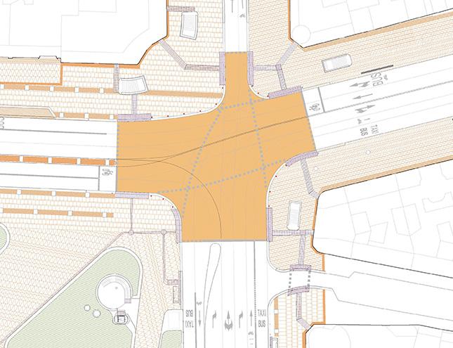 La Plaza de España contará con un paso de peatones en diagonal