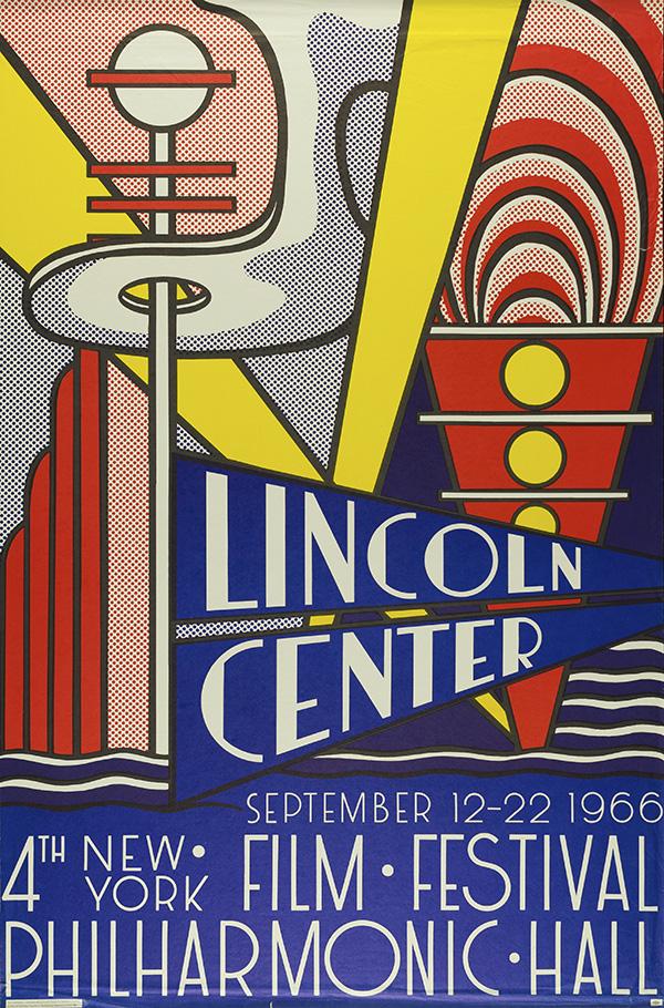 Lincoln Center Poster, 1966 © Estate of Roy Lichtenstein
