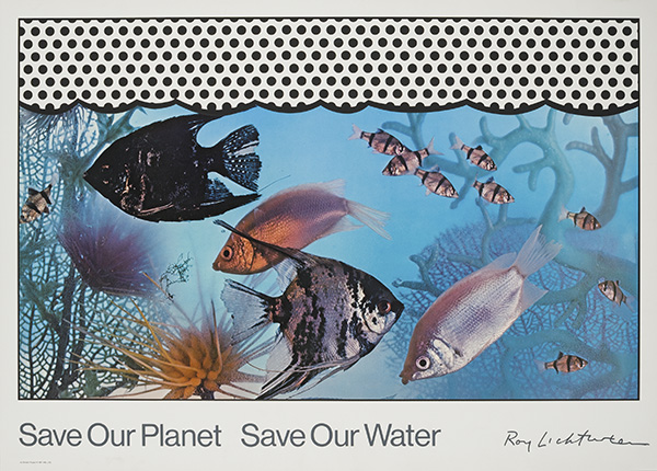 Roy Lichtenstein Save our planet save our water 1971 - Exposición: Los posters de Roy Lichtenstein llegan por primera vez a Madrid
