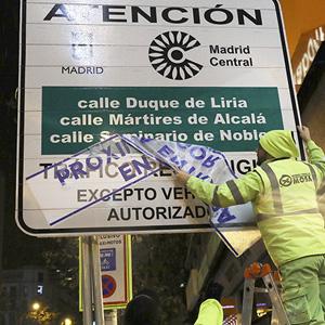 Madrid Central solo para residentes, coches Cero y Eco y transporte público