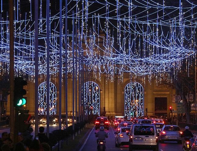 8 millones de LEDs para encender la Navidad en Madrid