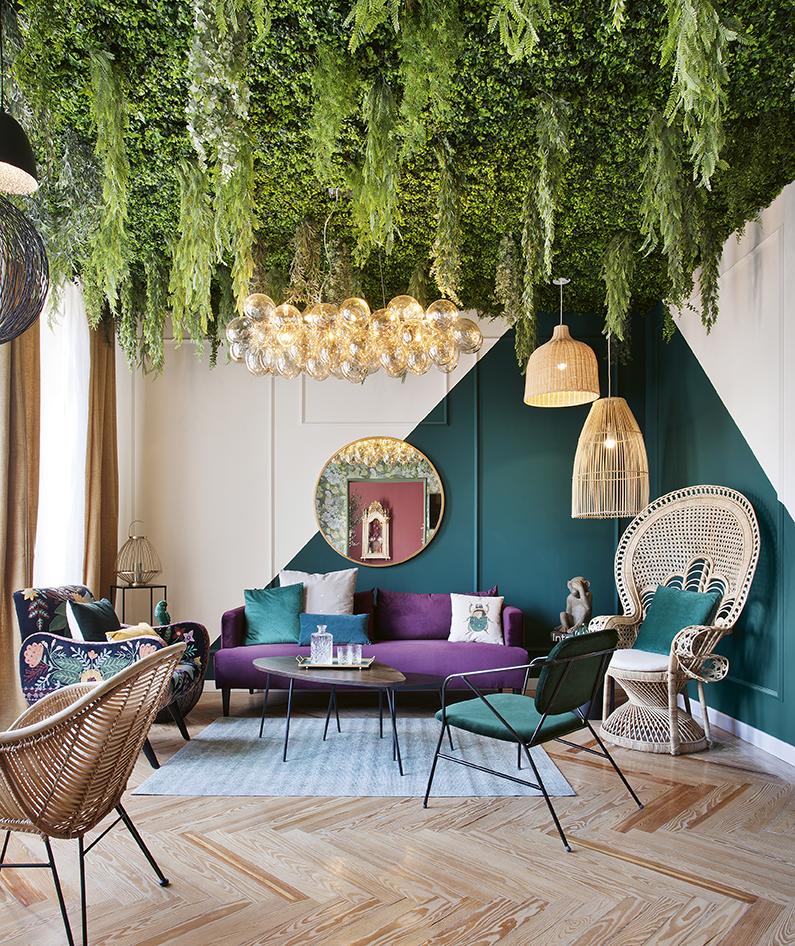 Salón vegetal es de Maisons du Monde.