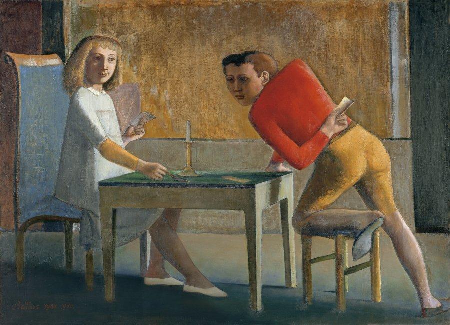 1982.4 partida naipes - Balthus: clásico y moderno, amado y odiado.