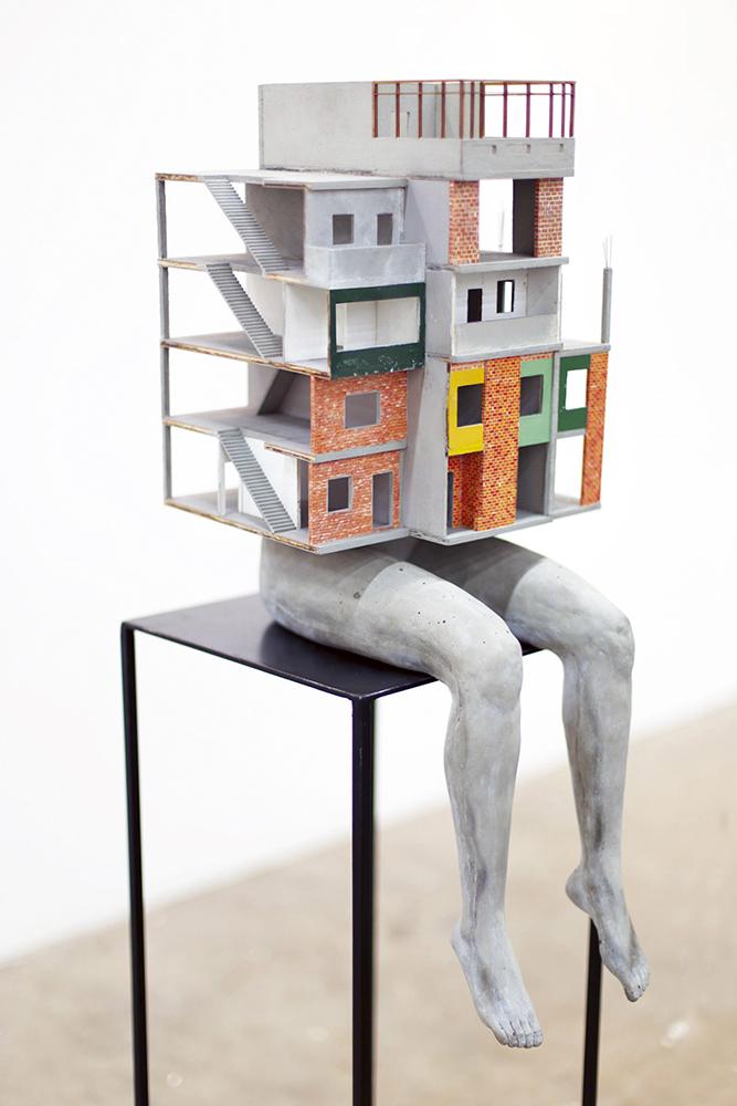 Escalera II, de Daniel Otero Torres. Galería Mor Charpentier.