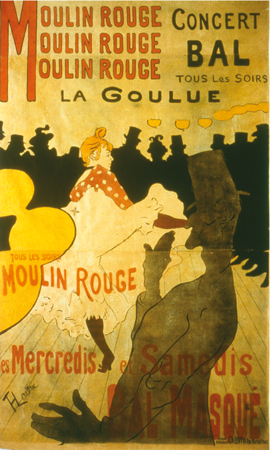 Moulin Rouge, La Goulue. 1891. Henri Tolouse-Lautrec
