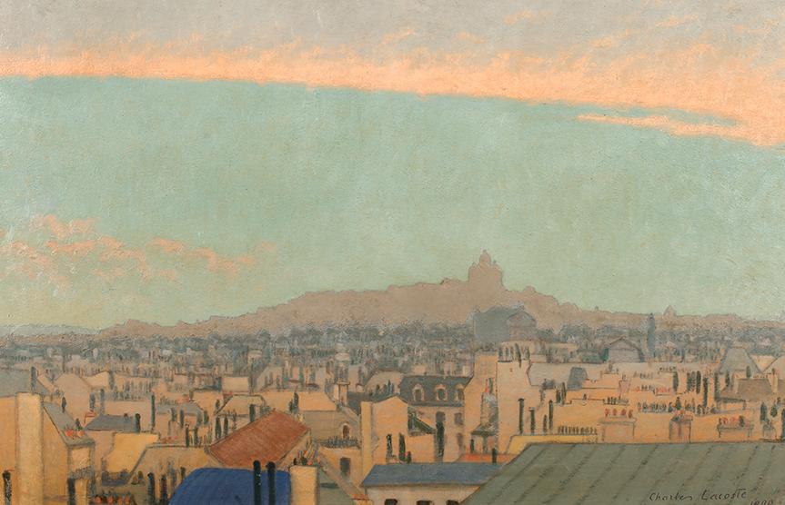 Vista de Montmartre. De Charles Lacoste. 1900.