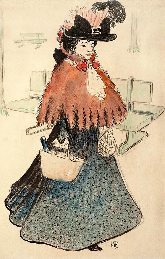 La bella judía sale de compras. Hermann-Paul.1896