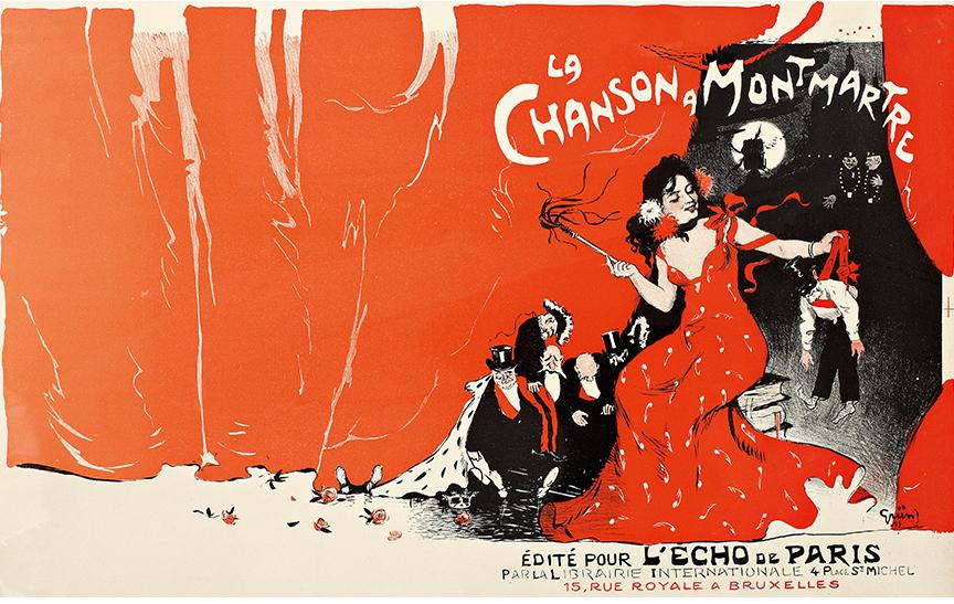 La canción de Montmartre. Jules Grün. 1900.