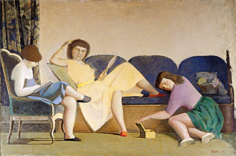 balthus 3 hermanas - Balthus: clásico y moderno, amado y odiado.