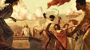 Cuadro titulado Feast of Lupercalia.