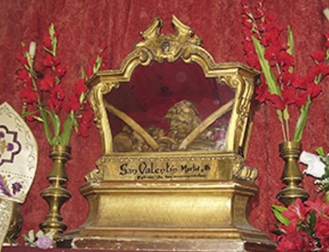 San Valentín está enterrado en Madrid