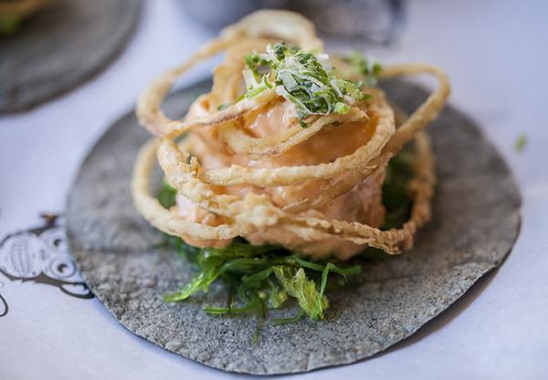 Taco tempura gambones Chido - 4 planes para disfrutar más de Madrid