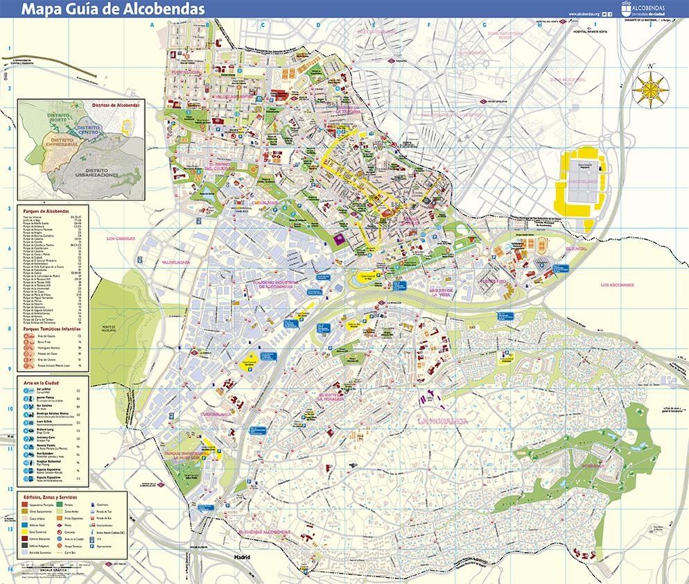 Mapa Callejero de la ciudad de Alcobendas