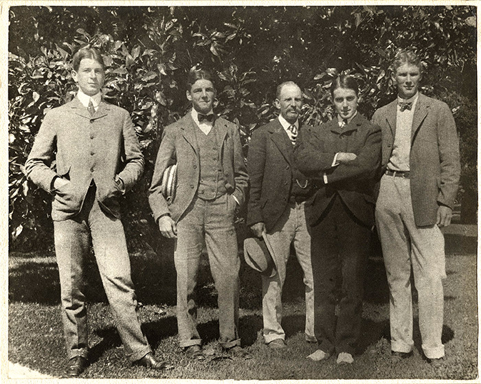 2. 1899 Dwight Davis Beals Wright George Wright Holcombe Ward Malcolm Whitman.1744 - Comienza la Copa Davis en Madrid