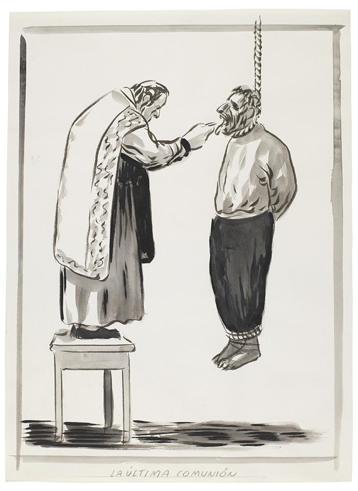 La última comunión. El Roto - 36 dibujos de El Roto para dialogar con Goya y la historia